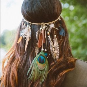 Accessories - 🌟Artisan Crafted Feather Headband🌟✨